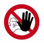 Warnschild Zutritt verboten - nicht anfassen